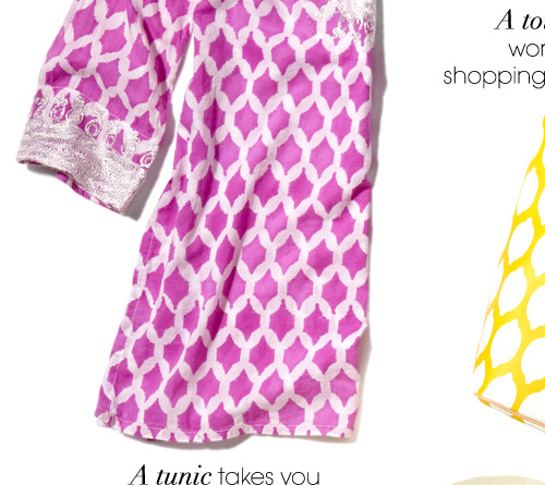 A tunic takes you from brunch to beach and beyond
