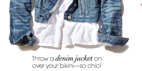 Throw a denim jacket on