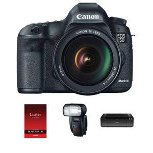 Adorama - Canon EOS-5D Mark III Digital SLR Camera/Lens Kit with Canon EF 24-105L Image Stabilized Lens - Canon Speedlite 600EX-RT U.S.A. - Canon Pro100 Printer
