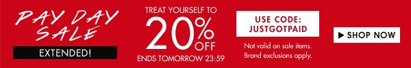 Pay Day Sale up to 20% off!