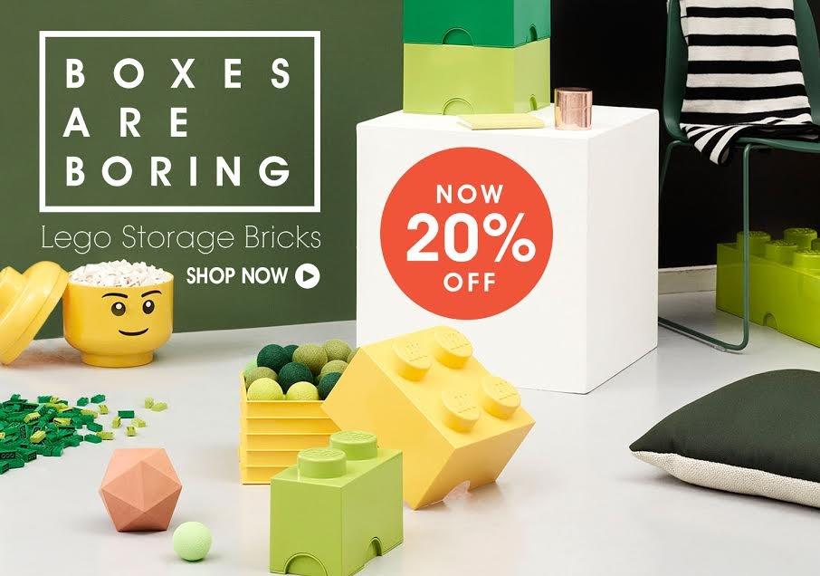 Boxes Are Boring. Shop Lego Storage Bricks.