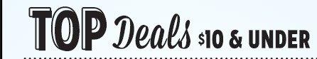 TOP Deals $10 & UNDER