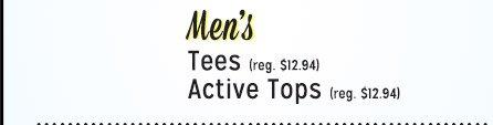 $5 Men's Tees | Active Tops