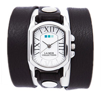 Black Silver Chateau Wrap Watch