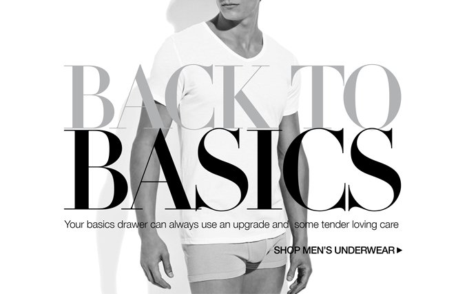 Shop Must-Have Basics - Men.