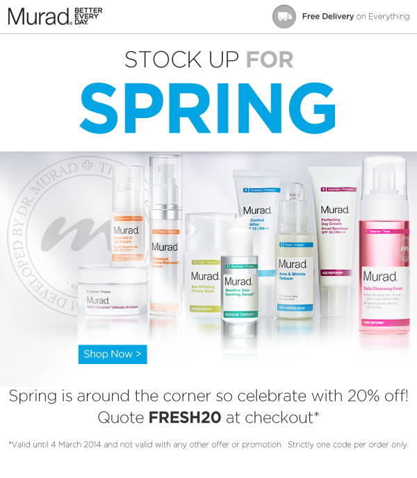 20% off Everything... the Murad Spring Sale!