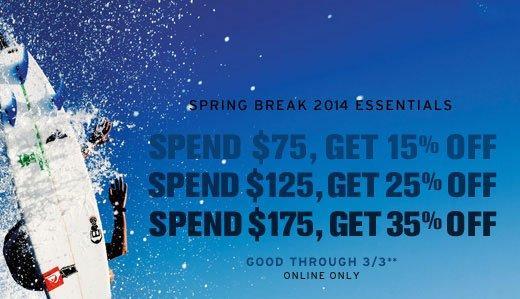 Spring Break 2014 Essentials