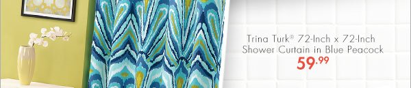 Trina Turk® 72-Inch x 72-Inch Shower Curtain in Blue Peacock 59.99