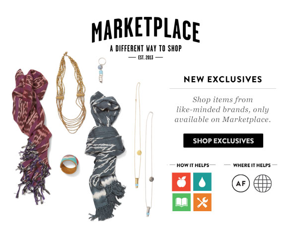 New Marketplace Exclusives - shop items from like-minded brands, only available on Marketplace