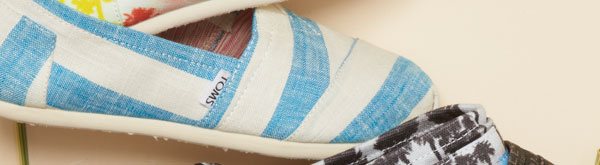 Blue and White Stripes Women's Classics