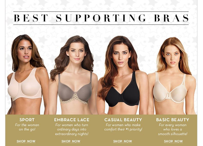 Shop Best Supporting Bras: Sport, Embrace Lace, Casual Beauty, Basic Beauty