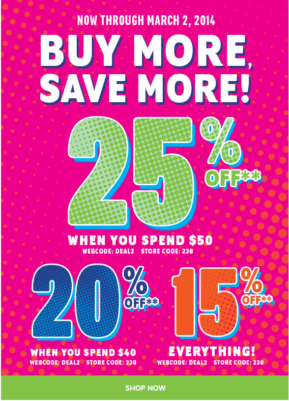 Buy More Save More!