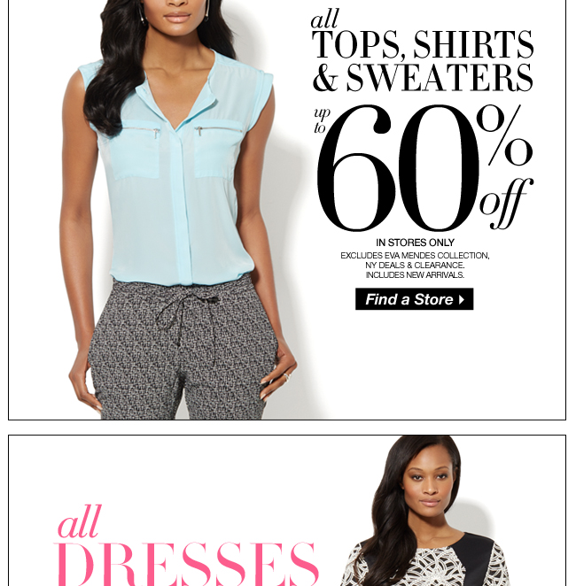 All Tops & Sweaters Up to 60% Off!