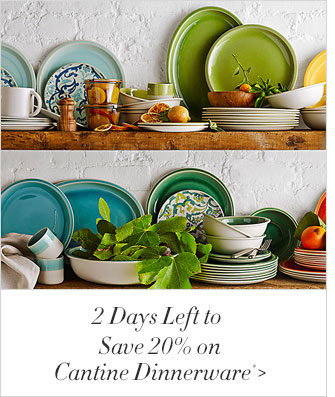 2 Days Left to Save 20% on Cantine Dinnerware*