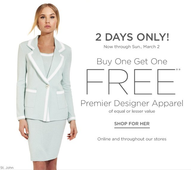 Buy 1 Get 1 Free Women's Apparel