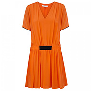 VICTORIA, VICTORIA BECKHAM - Pleated silk chiffon dress