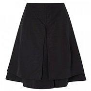 JIL SANDER - Rambla flared overlay skirt