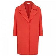 PAULE KA - Piqué stretch cotton cocoon coat