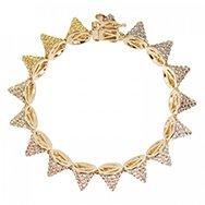 EDDIE BORGO - Pavé crystal cone bracelet