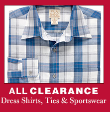 Clearance Dress Shirts, Ties & Sportswear - EXTRA 40% OFF