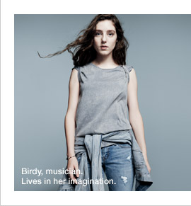 Birdy, musician. Lives in her imagination.