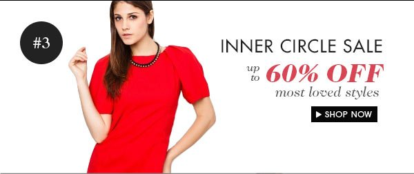 Inner Circle Sale - Up to 60% off