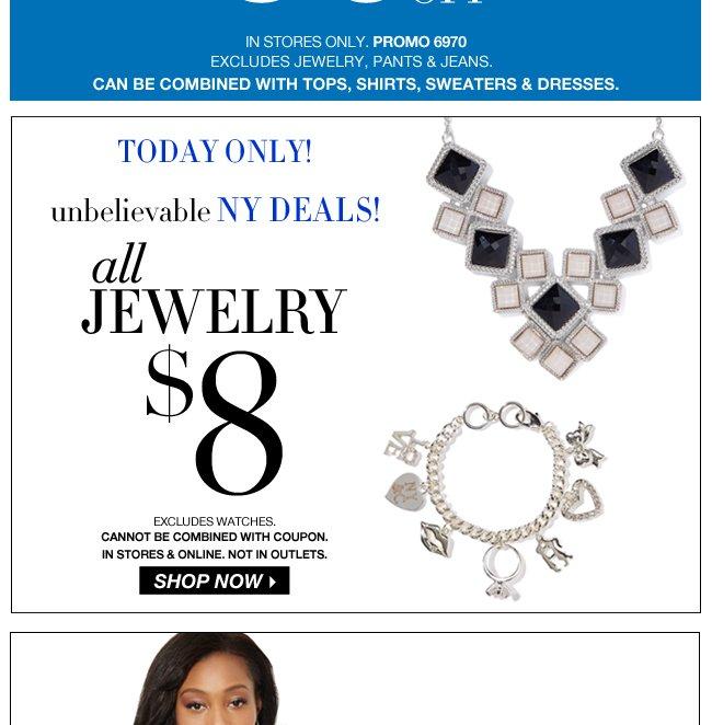 All Jewelry $8!