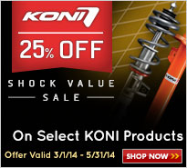 KONI Shock Value 25% Off Sale