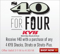 KYB $40 for Four