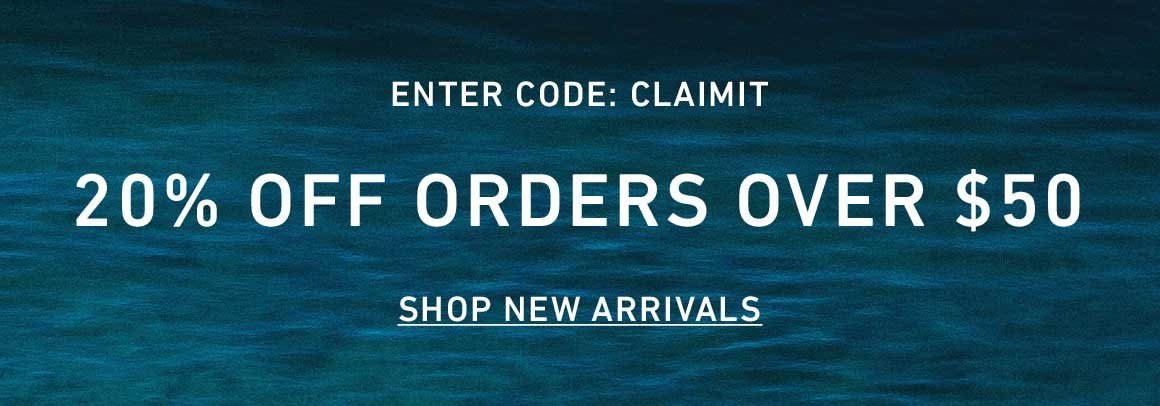 20% Off Orders Over $50. Enter Code: CLAIMIT