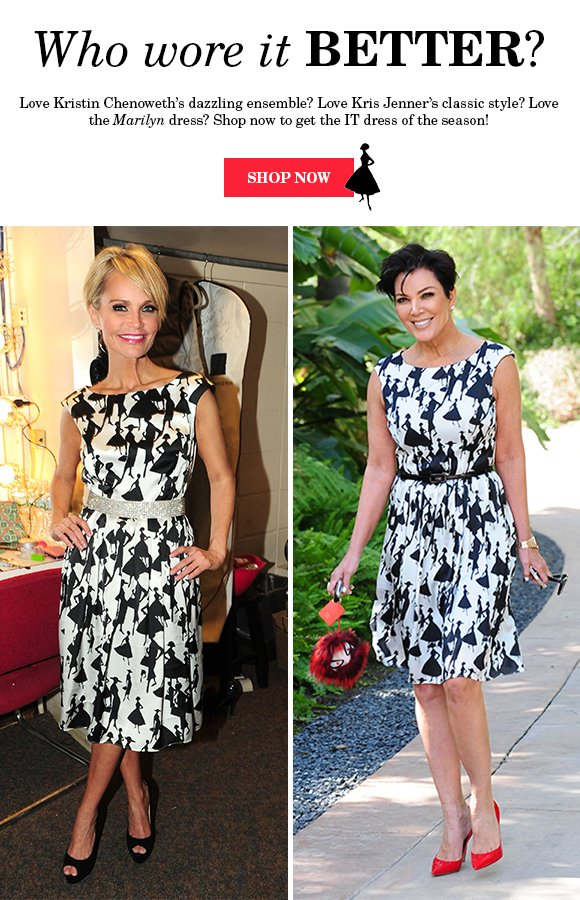 Who wore it better: KRISTIN CHENOWETH or KRIS JENNER?