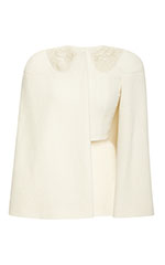 Cape Jacket with Cashmere Gold Thread