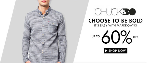 Get up to 60% off Chuck and Bo!