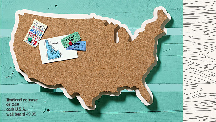 limited release of 240 cork U.S.A. wall  board 49.95