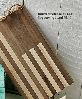 limited release of 245 flag serving board  49.95