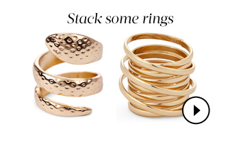 Stack some rings. Shop Rings