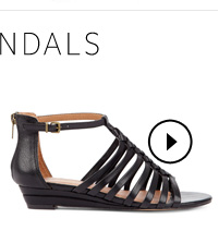Start thinking sandals. Shop Leighla