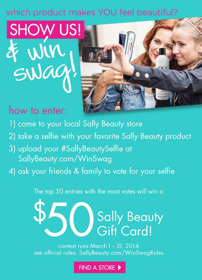 show us & win swag!