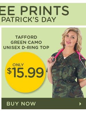 Tafford Green Camo Unisex D-Ring Top - Buy Now