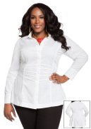 Pleated Button Front Tunic