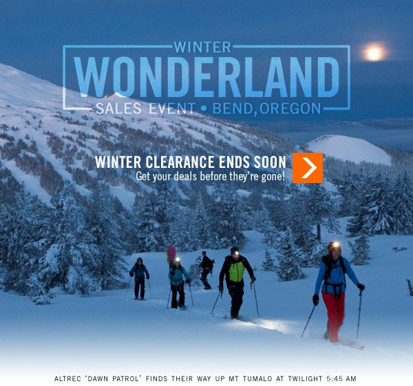 Winter Clearance Ends Soon