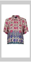 Folk Print Casual Shirt