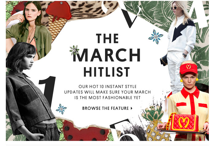 THE MARCH HITLIST - BROWSE THE FEATURE