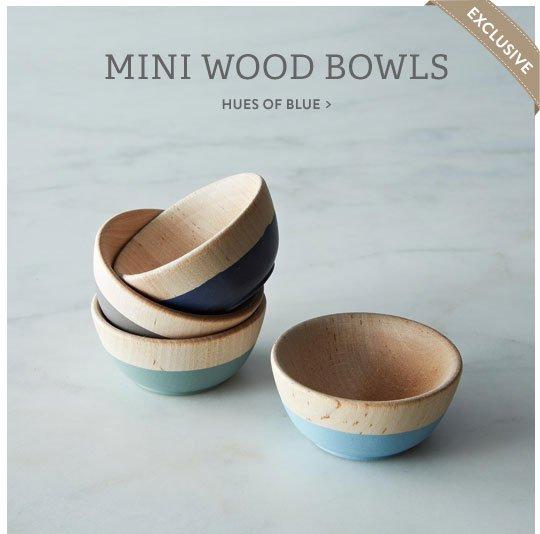 Mini Wood Bowls