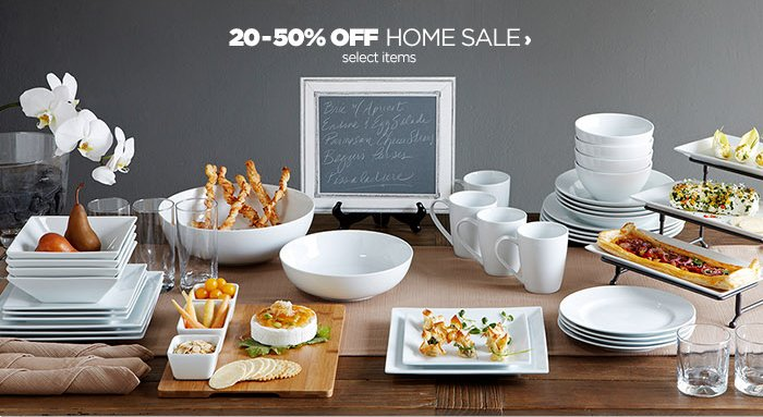 20 –50% OFF HOME SALE › select items