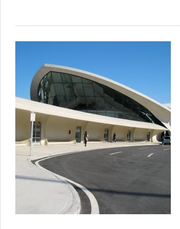 Completed in 1962, Saarinen's TWA Terminal at JFK Airport has been vacant since 2001. It was added to America's 11 Most Endangered Historic Places list in 2003, and until recently there were plans to turn it into a boutique hotel. That project is now on hold, leaving this stunning structure on standby.