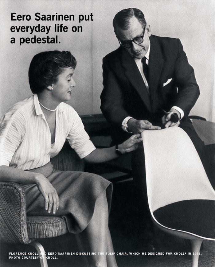 Eero Saarinen put everyday life on a pedestal.