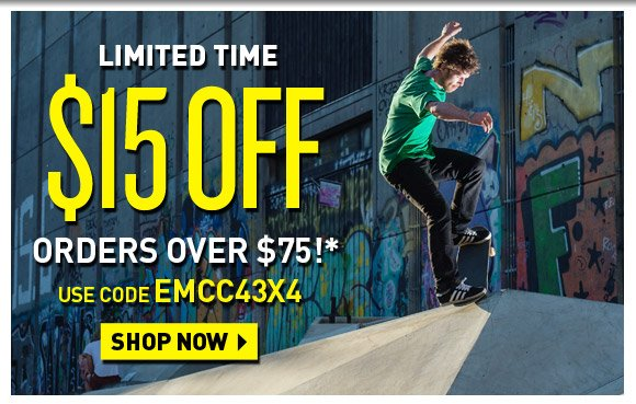 Limited Time! $15 Off order over $75!*