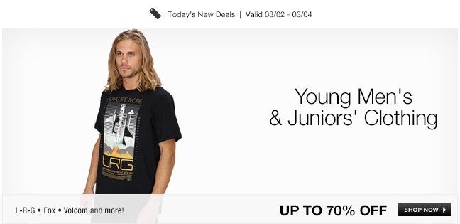 Young Mens and Juniors Clothing