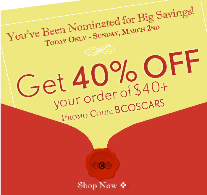 You've Been Nominated for Big Savings!